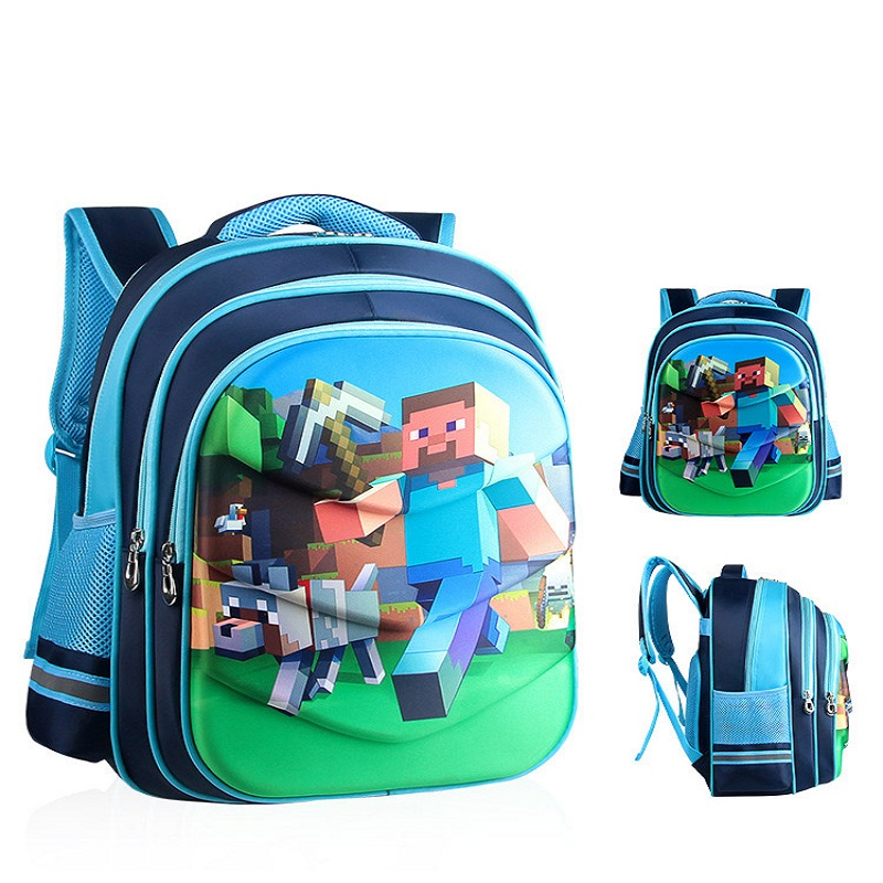 2018 children Backpacks Kindergarten Backpack Boy Cute MineCraft Cartoon Back pack Hot gift Backpack School Bags for Boys Girls hot sale girls boys cartoon children school bags cute drawstring masha