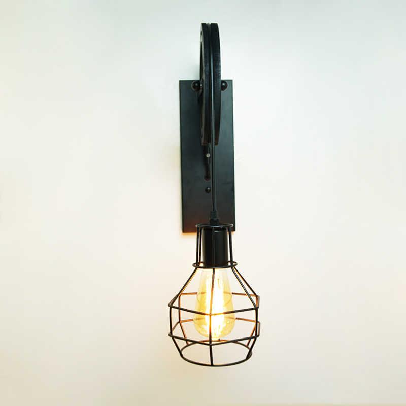 Творческий подъемный шкив свет Ретро Лофт Винтаж Дерево черный настенный светильник проход прикроватный коридор крыльцо Ресторан Бар Кафе свет бюстгальтер
