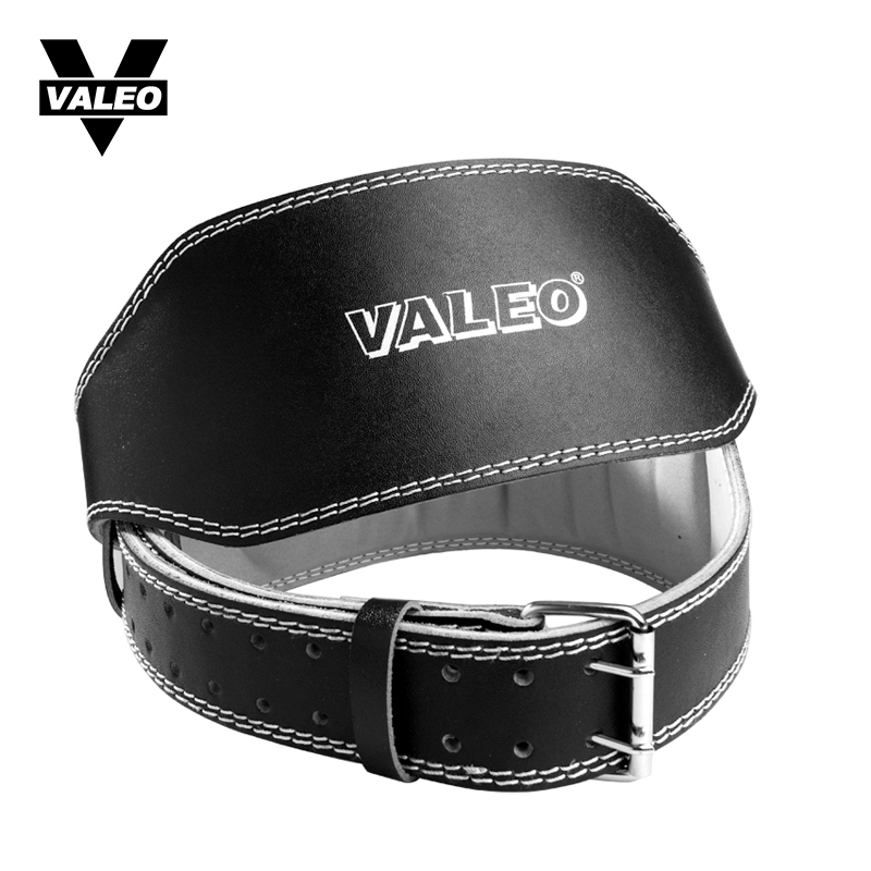 VALEO Fitness Belt Calfskin Men Belt Bodybuilding Widening Thickening Weightlifting Hard Drawing Squats Training Leather Belt