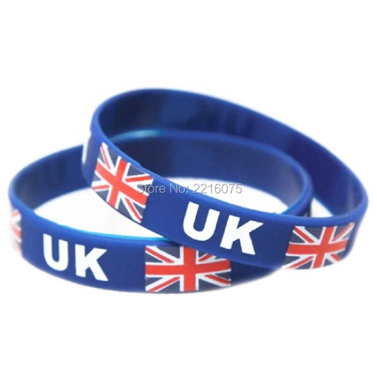 300pcs Flag Uk Wristband Silicone Bracelets Free Shipping By Dhl Express China Mainland