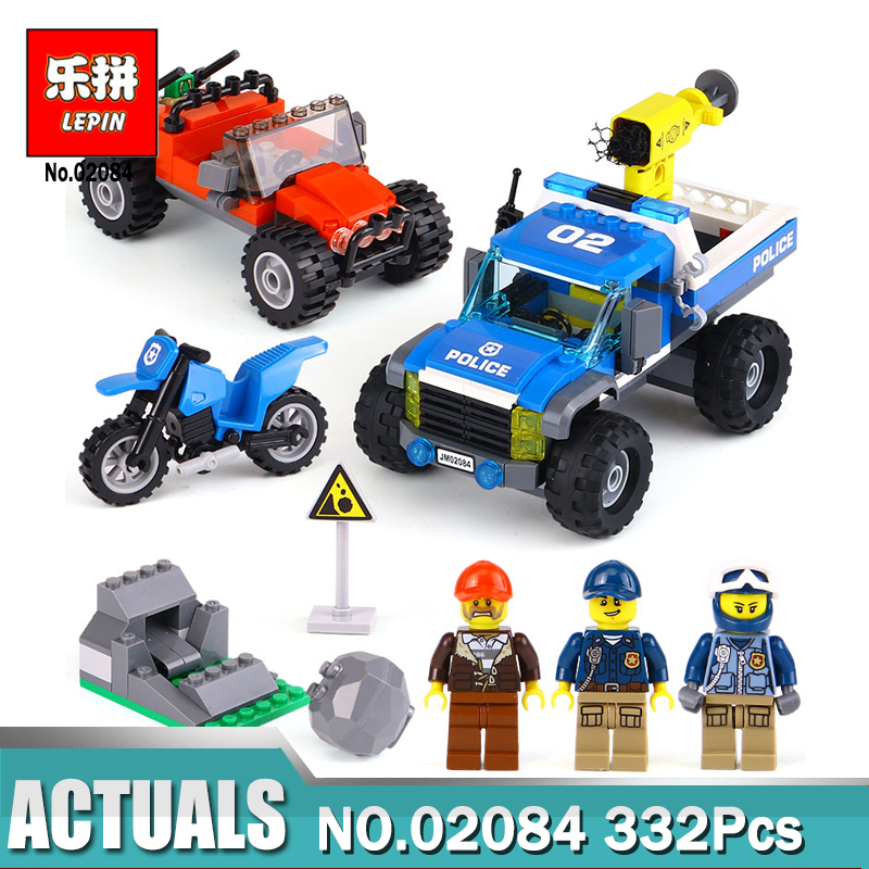 Lepin 02084 New City Series The Dirt Road Pursuit Set Colne LegoINGly 60172 Building Blocks Bricks Funny Toys Gifts For Children new lepin 23015 science and technology education toys 485pcs building blocks set classic pegasus toys children gifts