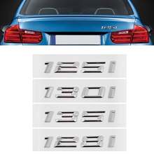 Silver Car Styling for BMW 1 Series Sticker for BMW 125i 128i 130i 130i F20 F30 E90 X1 X5 Auto Trunk Lid Emblem Decal 3D Badge