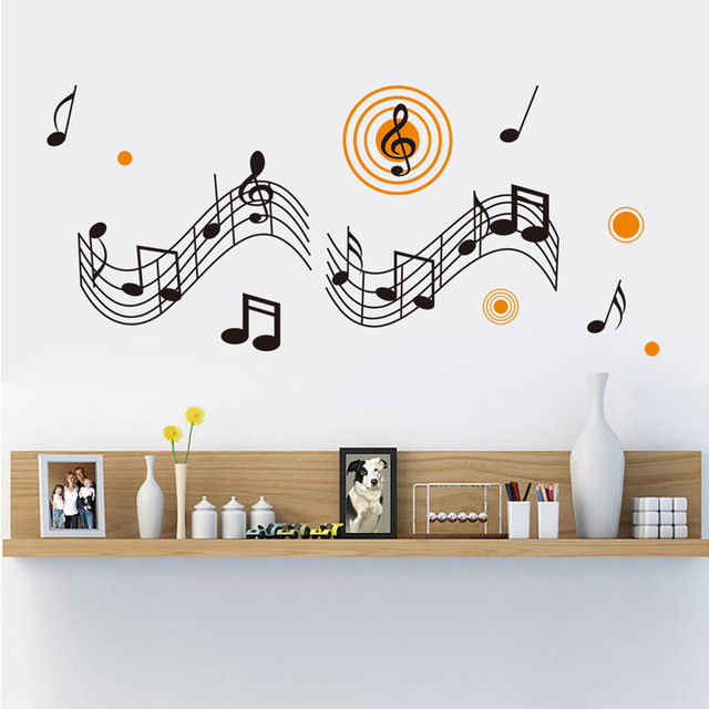 Large Removable Music Decoration Music Room Decor Living Room Wall Decor  Note Vinyl Paper Wall Art