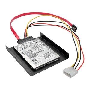 "Image 4 - エン Labs 1.3ft SATA & 電源 22pin コンボ w/2.5 ""に 3.5"" SSD Hdd 取付ブラケットアダプタハードドライブ Pc SSD"