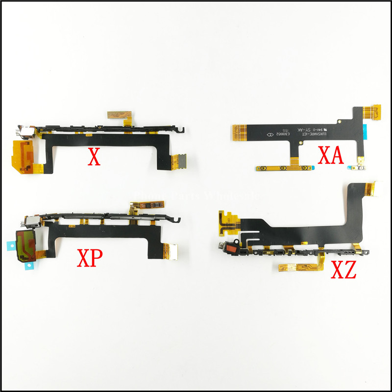 Power Volume Button Switch + Vibrator Flex Cable For Sony Xperia X XA XZ X Performance XP