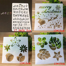 4pcs Bullet Journal Stencils Christmas For Wall Painting Scrapbooking Stamping Stamp Album Decorative Letters Template Reusable au1212 austria 2012 christmas maria sarkozy altar painting stamp 1 new 1206