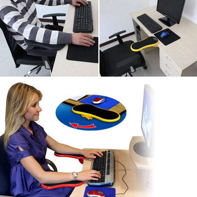 Hand Shoulder Protect armrest Pad Desk Attachable Computer Table Arm Support Mouse Pads Arm Wrist Rests Chair Extender for Table 2