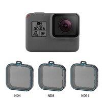 TELESIN 4 Pack Fiter Set ND Lens Protector Filter ND4 8 16 for Gopro Hero 5 6 & 7 Black Hero 7 Camera Accessoreis