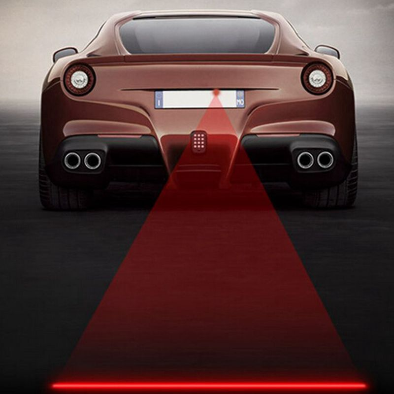 Newest Anti-Collision Rear-end Auto Car Red Laser Tail Safety Fog Warning Light 12v-24v Waterproof Brake Parking Lamp