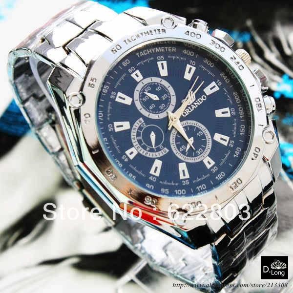 Hot Sell Brand ORLANDO Men Fashion Watch Quartz Luxury men sports Clock Men full Steel watch Male relogio masculino clock men quartz full steel watch hot sale luxury
