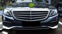 3 шт. полоса Новая ABS Хромированная передняя решетка нижний бампер крышка для губ Накладка для Mercedes Benz E Class W213 2016 2017 не подходит для спортивно...
