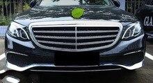 3 шт Диапазон Новый ABS Хром Передняя решетка нижней части бампера для губ Накладка для Mercedes Benz E Class W213 2016 2017 не fit sport модель