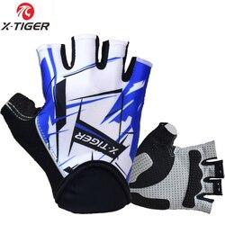 X-tiger wysokiej jakości sześciokątne 3D GEL odporne na wstrząsy rękawice sportowe Half Finger MTB rękawice rowerowe rękawiczki rowerowe rękawiczki rowerowe