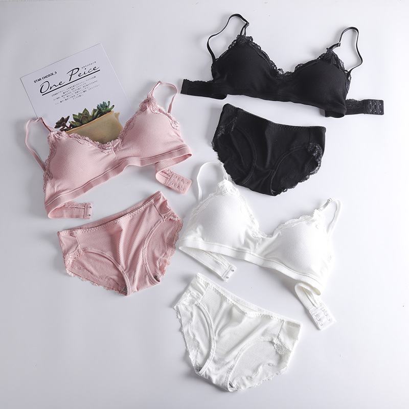 2019 New Lingerie Sets High Quality Cotton Underwear Set Fashion Bra Set Noble Girl Lingerie Set Push Up Sexy Bra And Panty Sets
