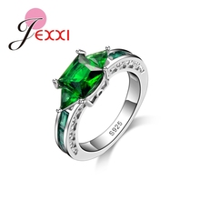 Jemmin Hot Selling Green Rings 925 Sterling Silver Party Rings