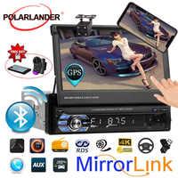 7 USB/AUX/SD GPS Stereo Car Radio 1DIN Bluetooth Autoradio radio cassette player auto tapes Head Unit Mirror Link