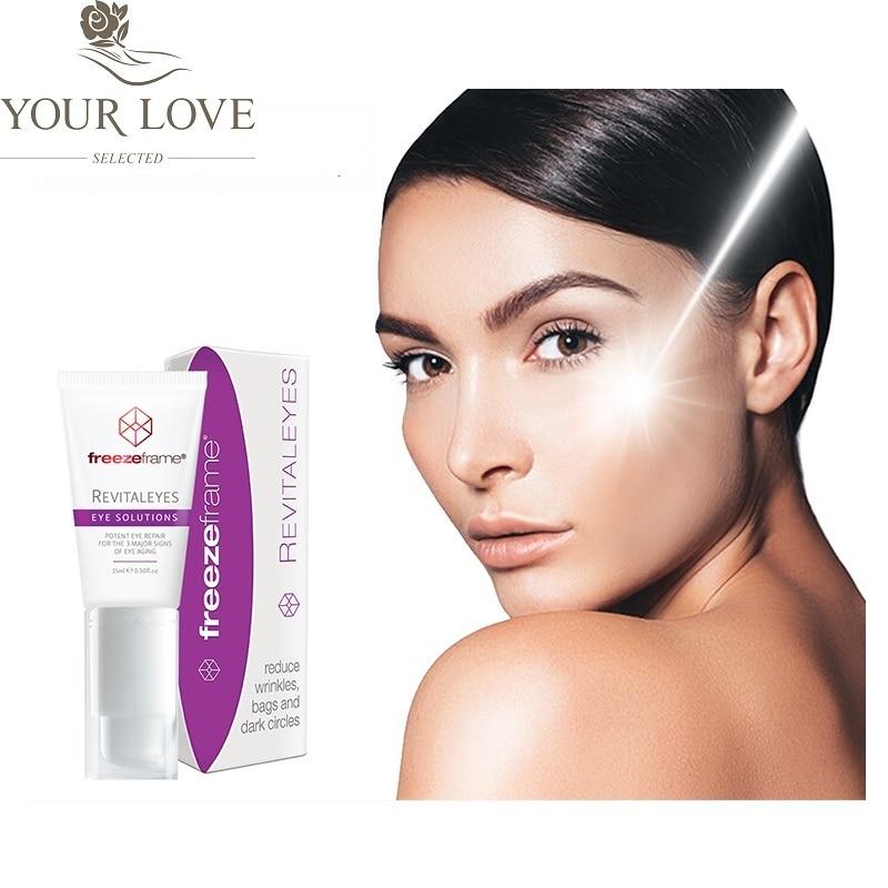 Australia Bestselling Freezeframe Peptide Revitaleyes Reduser øyepuffinessposer Mørke sirkler Dype rynker Safe Eye Care cream