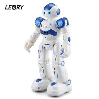 Leory rc robô inteligente de programação controle remoto robotica brinquedo biped humanóide robô para crianças presente aniversário