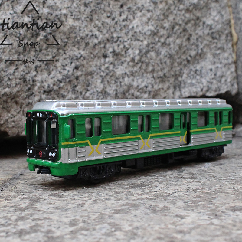 Toys & Hobbies Gift For Baby 1pc 18cm Delicacy Underground Metro Train Acousto-optic Pull Back Alloy Model Home Decoration Boy Children Toy Cheapest Price From Our Site
