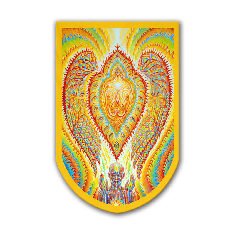 Alex Grey Art Printing Garden Flag Seraphic Transport Docking On The Third Eye Trippy Psychedelic Wall Flag Banner 60x90cm Clear And Distinctive Home & Garden Flags, Banners & Accessories