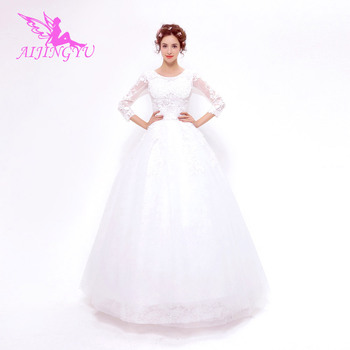 AIJINGYU 2018 new free shipping china bridal gowns cheap simple wedding dress sexy women girl wedding dresses gown TS150