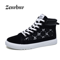 ZENVBNV 2017 Men Casual Shoes Winter Autumn New Lace Up Style Fashion Trend Suede Flat Breathable