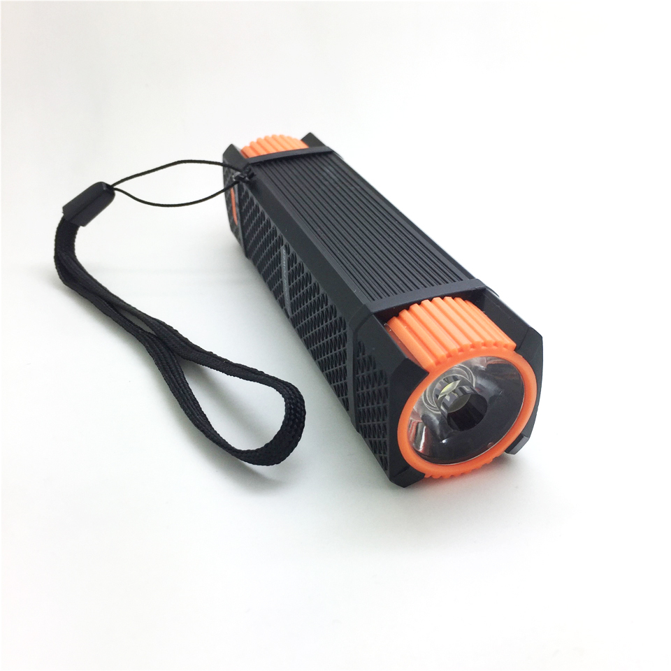 high power rechargeable led flashlights Multifunction powerbank 2600mA built in 18650 Battery phone charger night walking torch