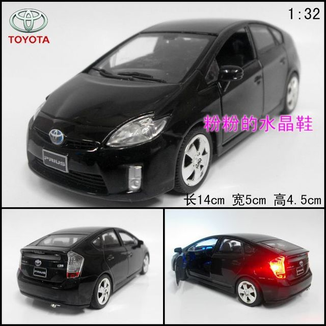 TOYOTA prius alloy car model acoustooptical toy black