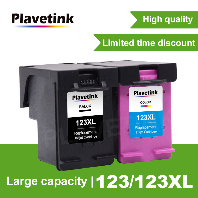 Plavetink 2130 ink Replacment For HP 123 123XL Black Ink font b Cartridge b font Replacement