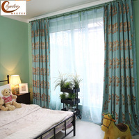 Byetee Chenille Jacquard American Pastoral Style Modern Minimalist Villa Curtains For Living Room Bedroom Cherry