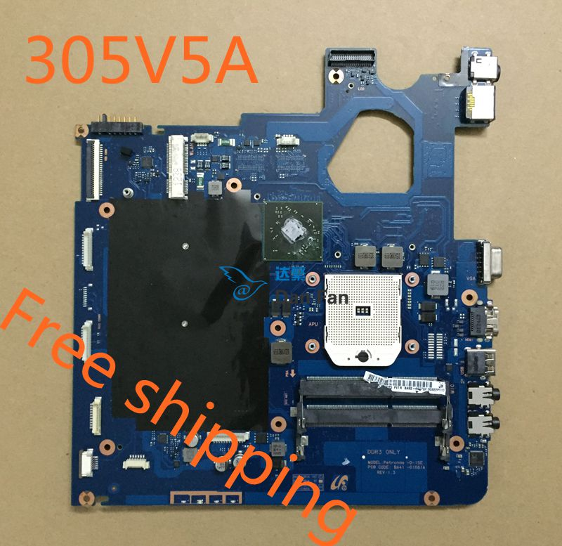 For SAMSUNG NP 305V5A Laptop Motherboard BA41-01681A Mainboard 100%tested Fully Work