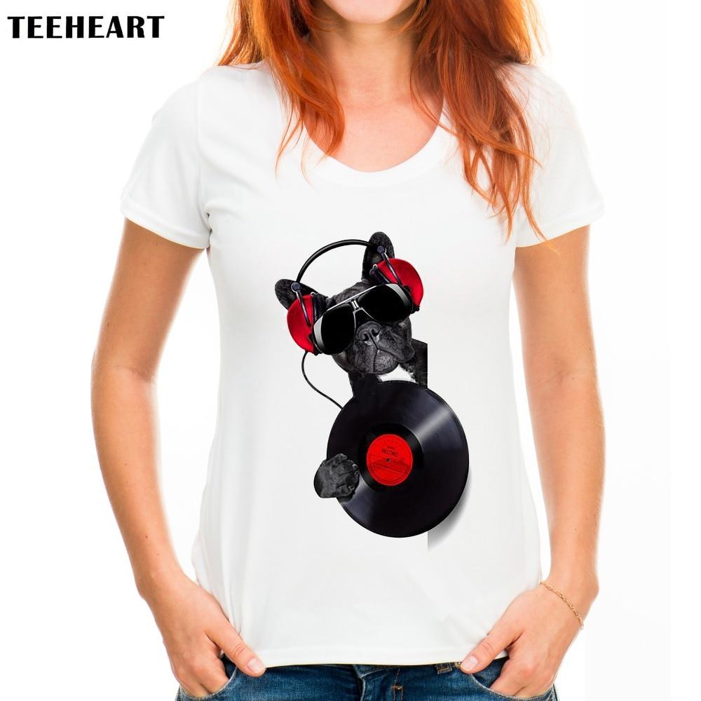 New arrive Women Summer French Bulldog t shirt fashion custom Printed Tops Hot Sales DOG adventure Tee Shirts PX486