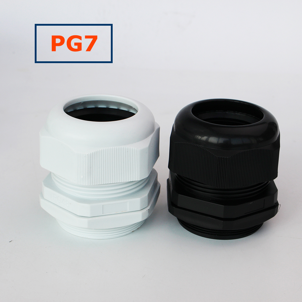1Pcs PG7 Plastic Waterproof Cable Gland For 3-6.5mm IP68 Nylon Cable Gland image