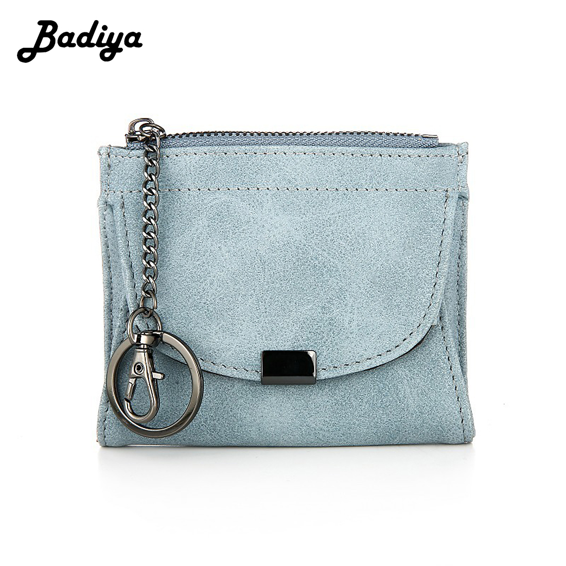 Korean Fashion PU Leather Women Short Wallet Zipper Lady Card Holder Wallet Solid Color Female Money Bag Long Tassel Coin Purse