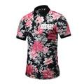 3D Floral Printed Polo Shirt for Men Summer Polo Hombre Short Sleeve Camisa Polo