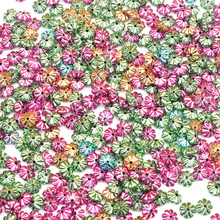 500Pcs Mixed Acrylic Flat Beads 6X6mm For Jewellery Marking Loose Spacer Beads B