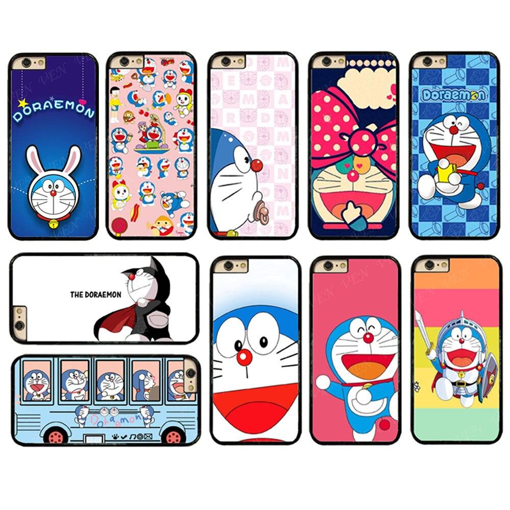 JR0504 Anime Doraemon Plastic Hard Case Cover For iphone X 5s 6s 7 8 Plus Samsung s5 s6 s7 s8 edge s9 s9 plus Note 8 J510 #T111
