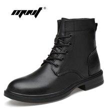 купить Plus size men boots warm plush winter shoes fashion waterproof ankle boots non-slip men winter snow boots Dropshipping дешево