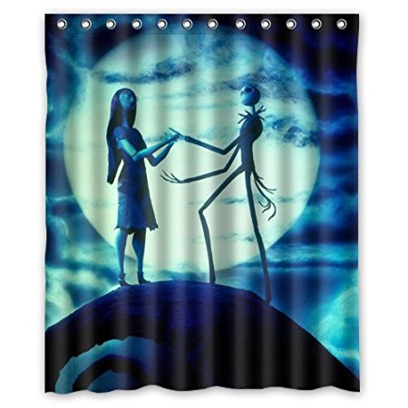 Christmas Decorations For Home Jack Skellington The Nightmare 160x180cm Fabric Bathroom Accessories Shower Curtain In Curtains From Garden On