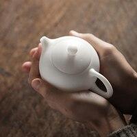 TANGPIN Dehua porcelain teapot porcelain kettle handmade household teapots chinese gongfu tea pot 170ml
