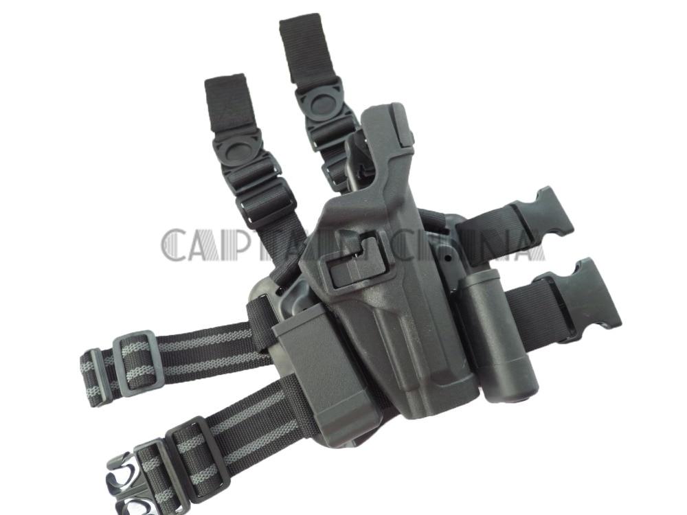 Gun holster Drop leg hoslter w/ Magazine pouch gun holster for Beretta M9 M92 tactical glock leg holster left hand paddle thigh belt drop pistol gun holster w magazine torch pouch for glock 17 19 22 23 31