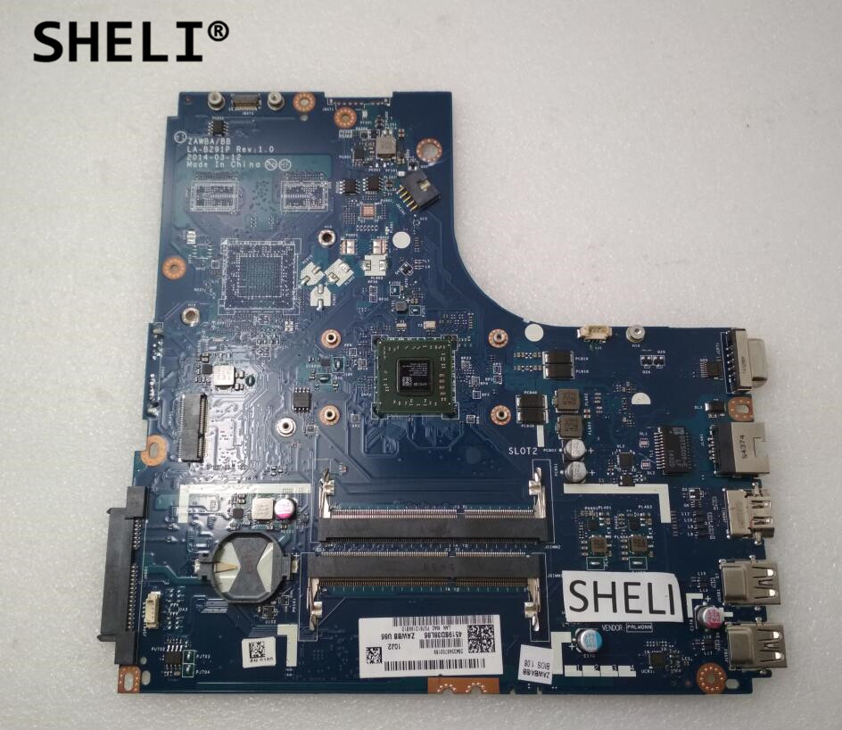 SHELI For Lenovo B50-45 Motherboard with A6-6310 cpu 5B20G14968 LA-B291P sheli for lenovo s415 motherboard with e1 2100 cpu 90003853 la a331p