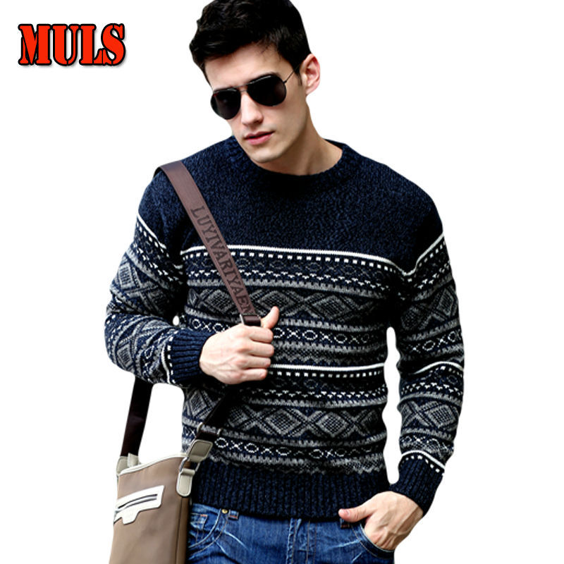 Gray Long Sleeve Render Sweaters Men O Neck Casual Pullovers Render