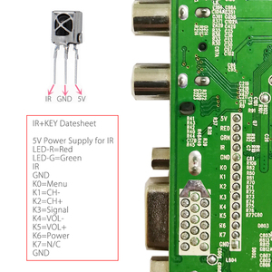 Image 5 - QT526C V1.3 Digitale Signaal DVB S2/T2/C Atv Lcd Driver Board Dual Usb Russische T.S512.69 + 7Key + 1ch 6bit Lvds kabel + Ccfl Inverter