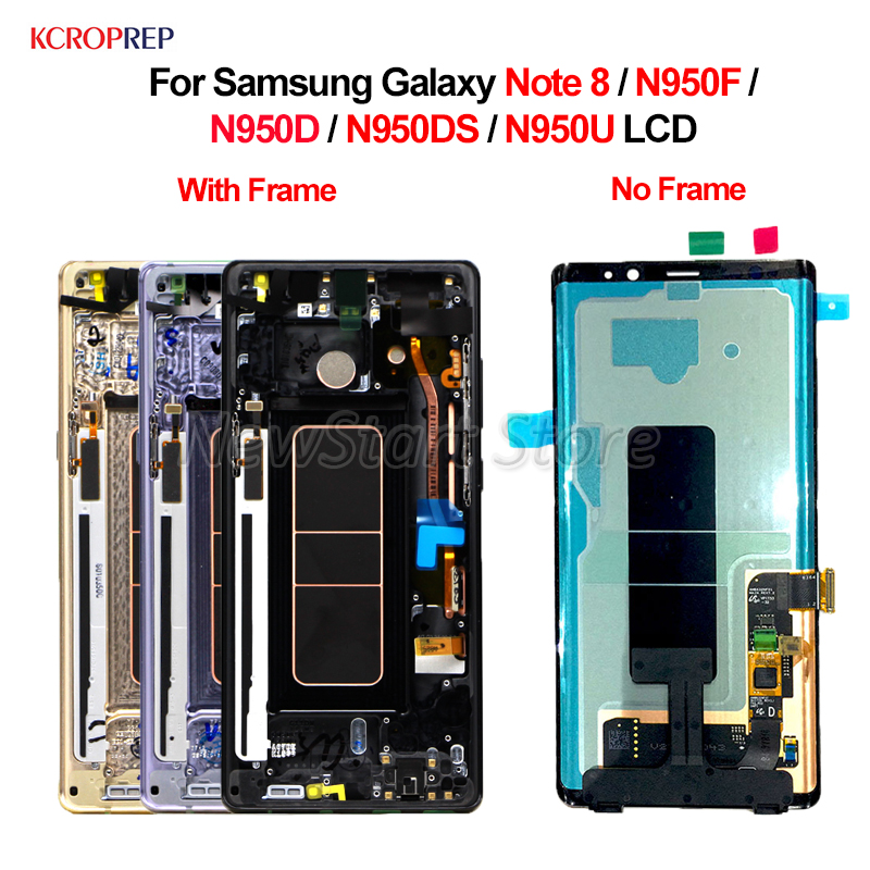 For Samsung Galaxy Note 8 LCD Display Touch Screen Digitizer Assembly 100 New 6 30 For