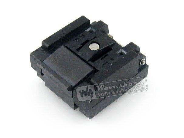 QFN16 MLP16 MLF16 QFN-16BT-0.65-01 QFN Enplas 0.65Pitch  4x4mm IC Test Burn-in Socket Programming Adapter With Ground Pin