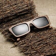 Yüksek miktarda klasik bambu ahşap güneş gözlüğü erkekler kadınlar marka tasarımcısı polarize UV400 gözlük