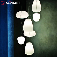 Nordic White Glass Ball Pendant Lights Modern LED Living Room Hanglamp Pendant Lamp Restaurant Bar Aisle Bubble Ball Luminaire