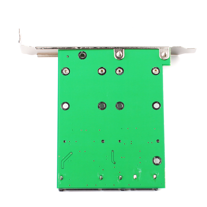 New mSATA SSD Dual Port To SATA II Adapter Card With PCI-e Bracket #79886 new msata ssd dual port to sata ii adapter card with pci e bracket 79886