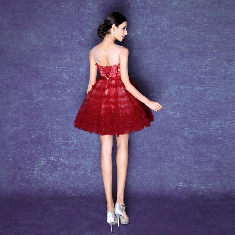 Baratos Don nupcial en stock rojo bordado partido prom vestidos de ...
